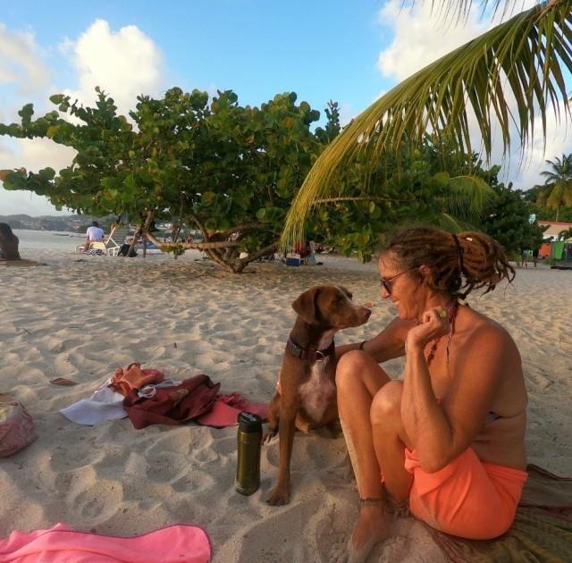 eli and mandy on beach