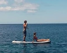1.25 adrien and pierre on SUP