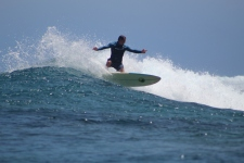 surfing Namotu pass Fiji
